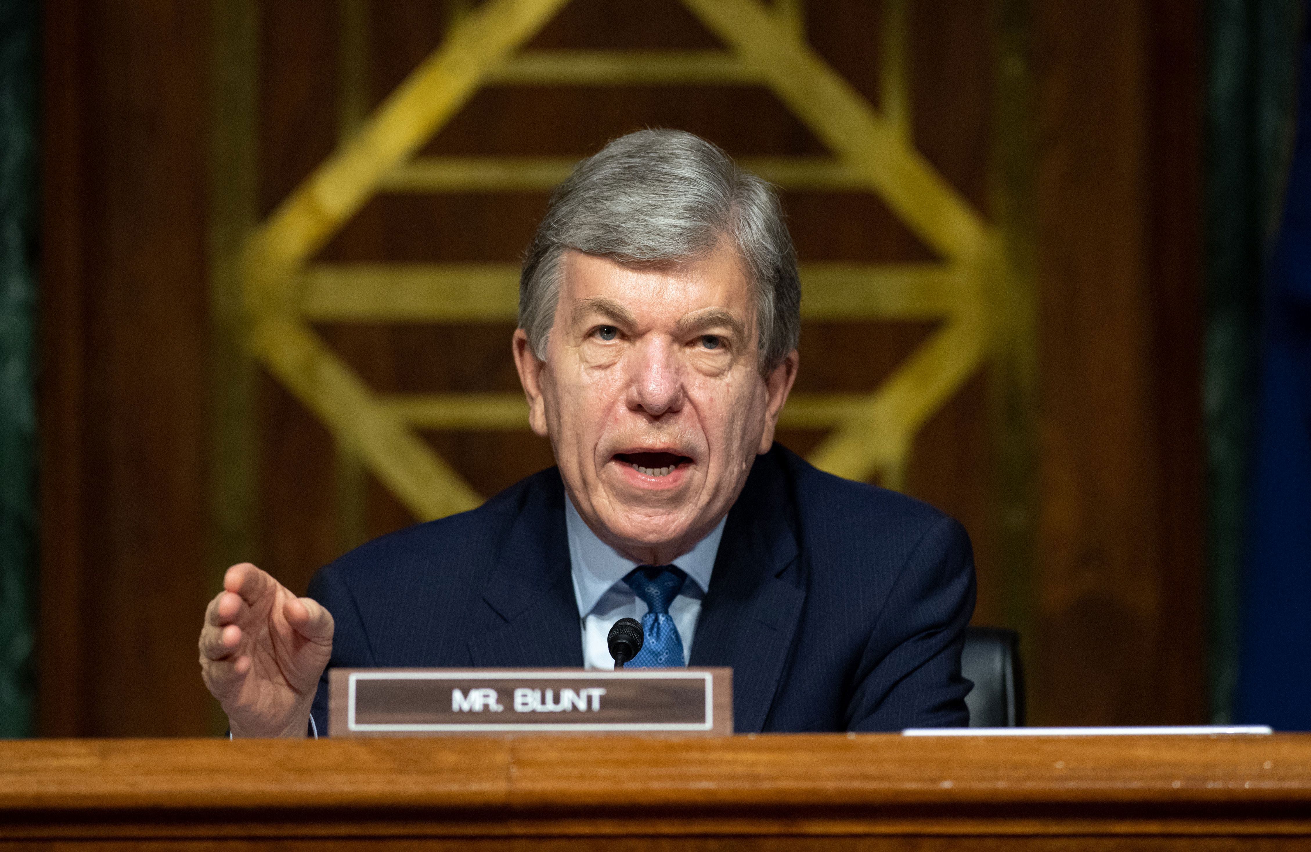 Sen. Roy Blunt speaks during a hearing in Washington, DC, on July 2.