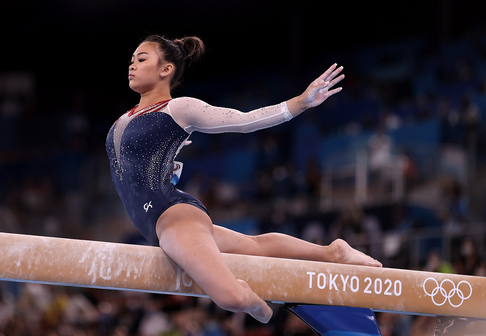 Team USA's Sunisa Lee competes on balance beam during the Women's All-Around Final on July 29.