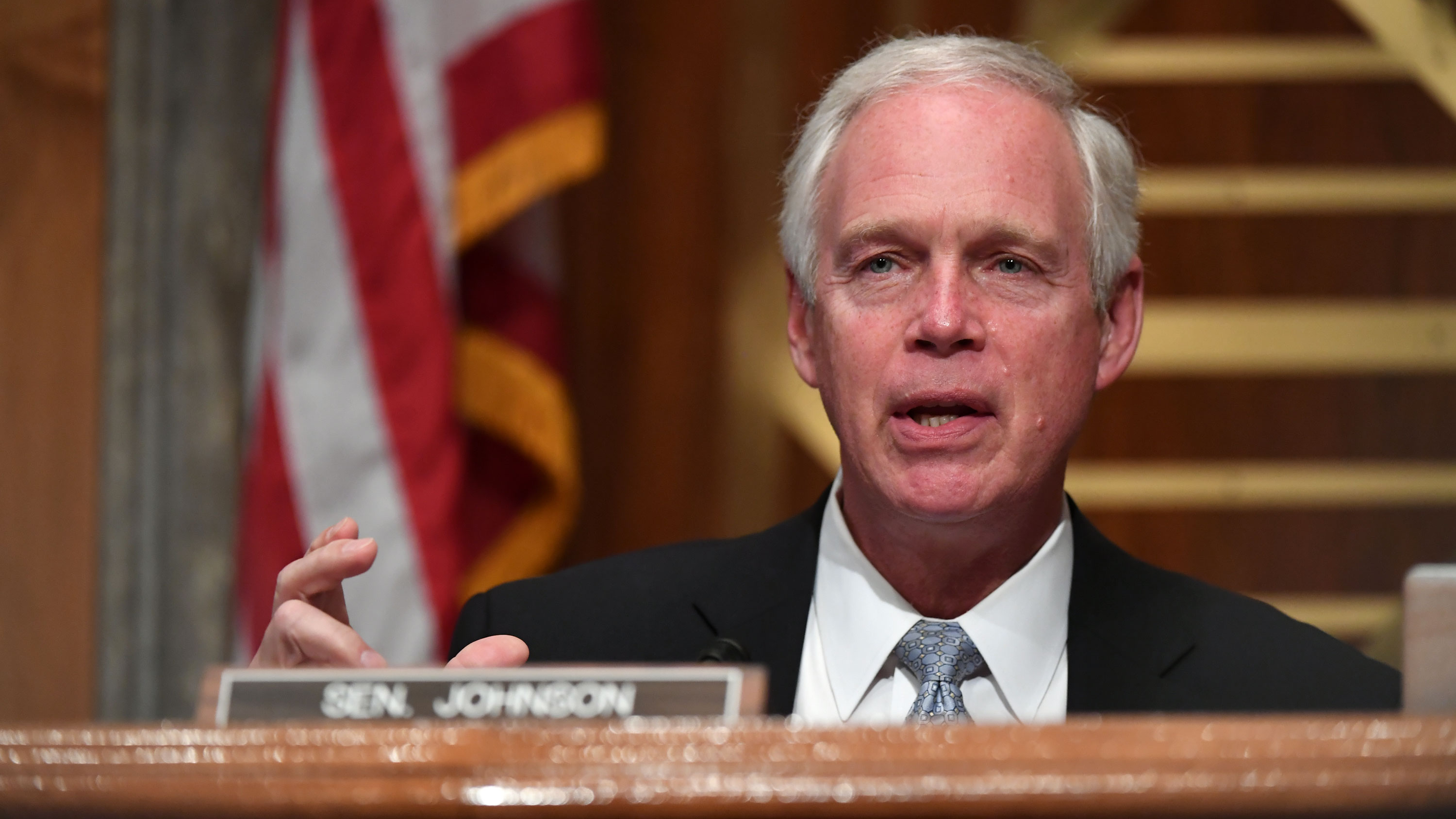 Sen. Ron Johnson at a hearing on Capitol Hill on August 6.