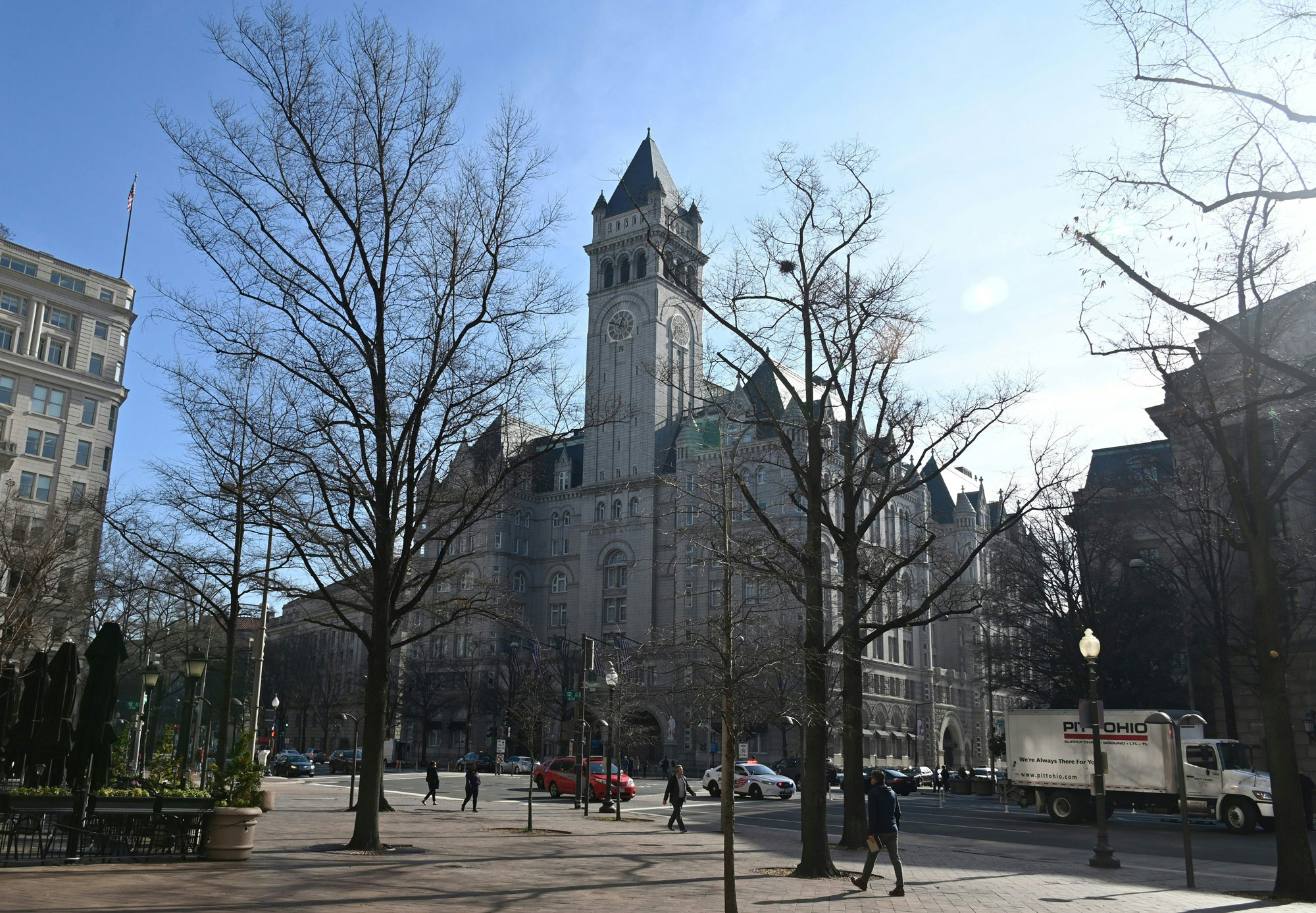 The Trump International Hotel is seen in Washington, DC, on January 15.