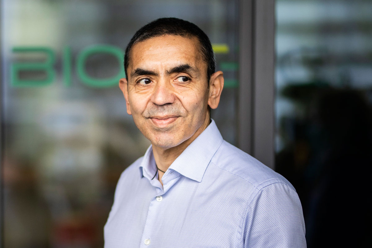 Ugur Sahin, Chairman of BioNTech, is pictured on December 4 in Mainz, Germany.
