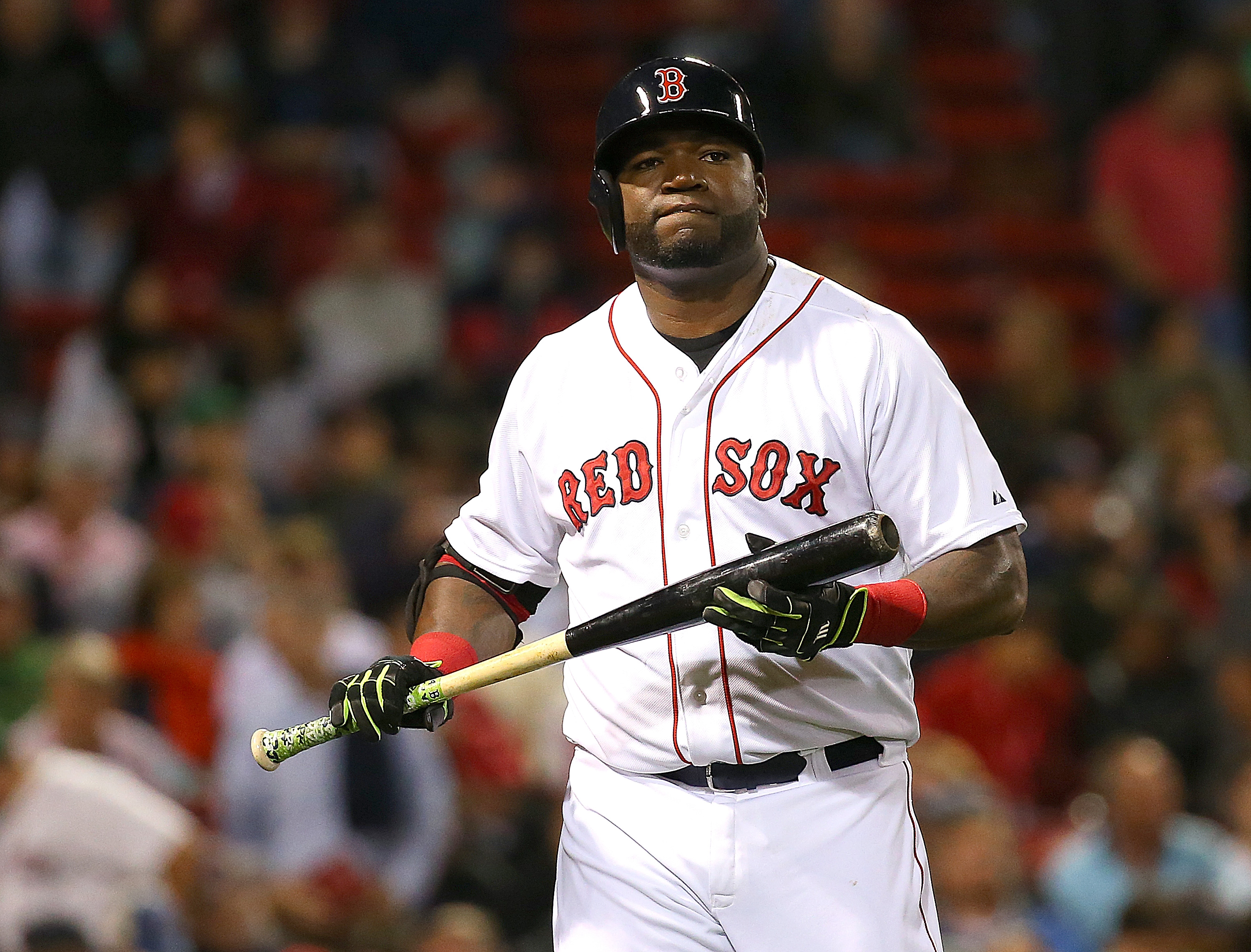 David Ortiz of the Boston Red Sox during the eighth inning of the game against the Tampa Bay Rays at Fenway Park on September 22, 2015 in Boston, Massachusetts.