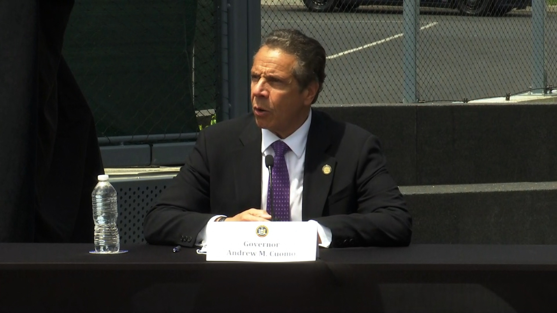 New York Gov. Andrew Cuomo speaks during a press conference in Tarrytown, New York, on June 15.