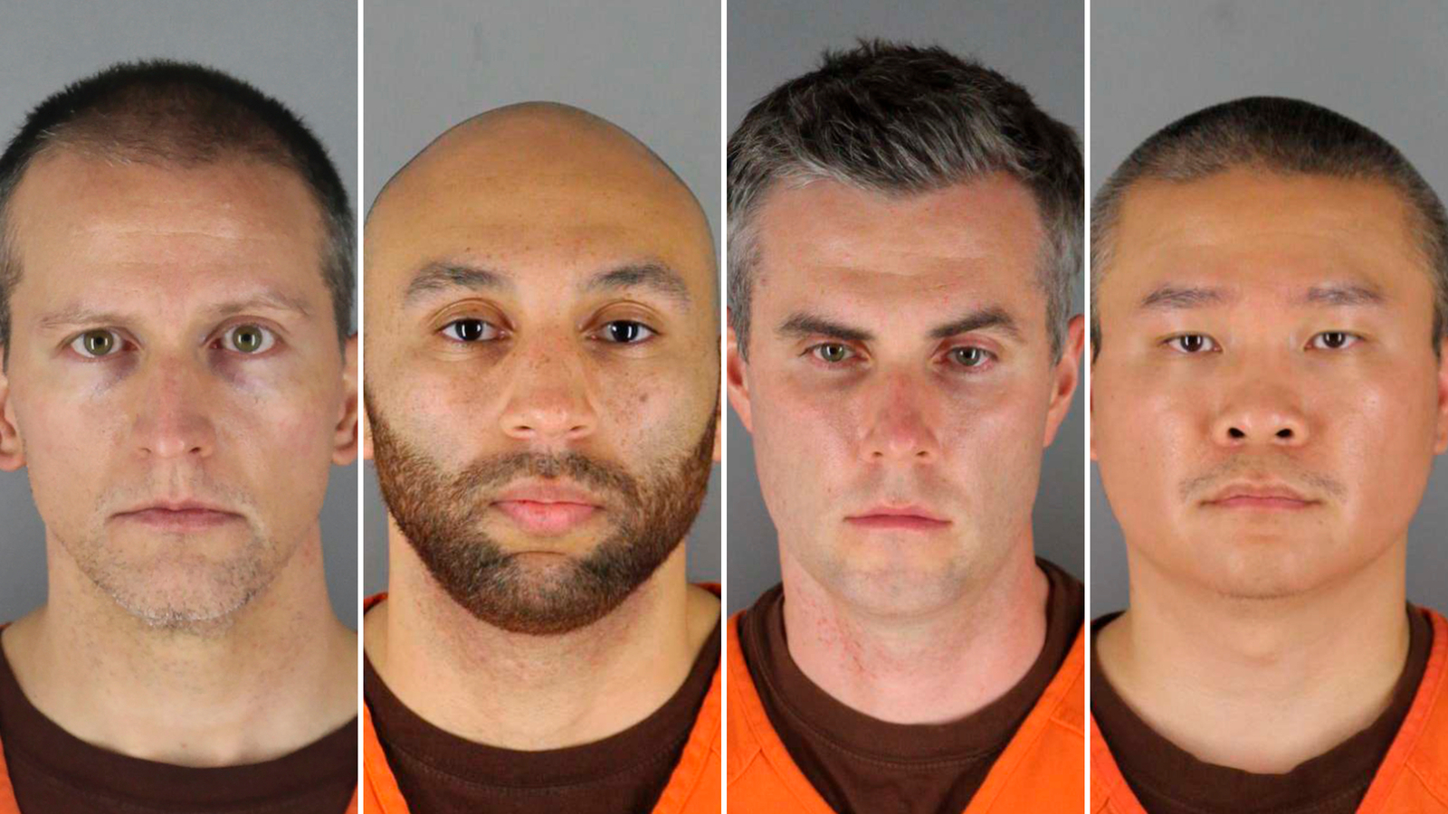 Derek Chauvin, J. Alexander Kueng, Thomas Lane and Tou Thao face charges in the death of George Floyd.