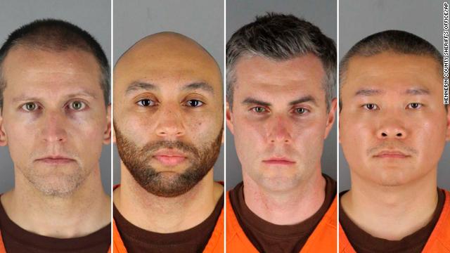 Former Minneapolis police officers Derek Chauvin, J. Alexander Kueng, Thomas Lane and Tou Thao.
