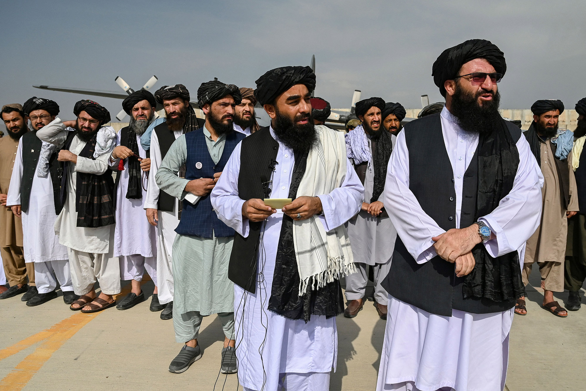 Taliban officials declare victoryover the United States from the tarmac of Kabul airport on August 31, hours after the withdrawal of the last American troops.