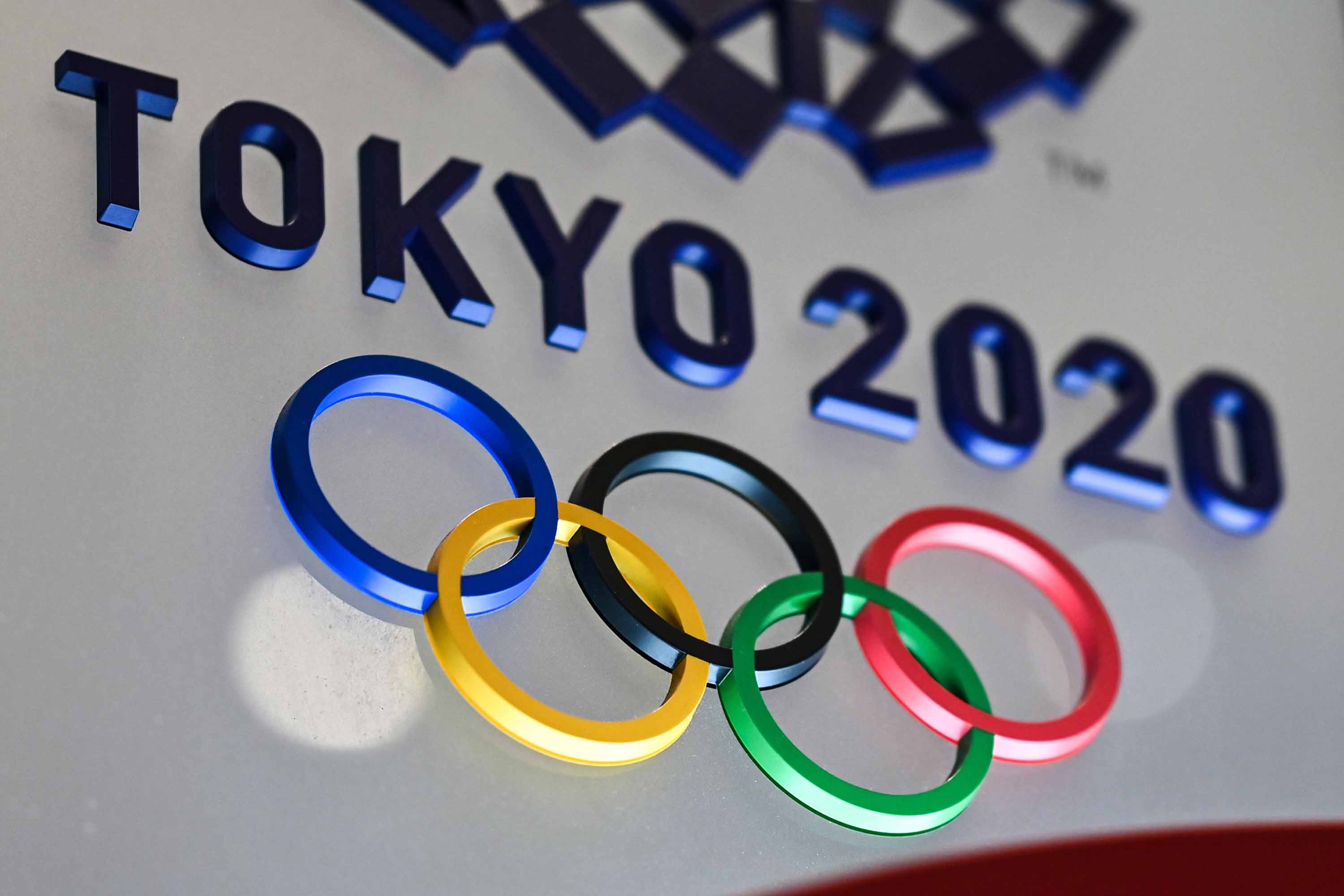 The Tokyo 2020 Olympic Games logo is seen in Tokyo on January 28.