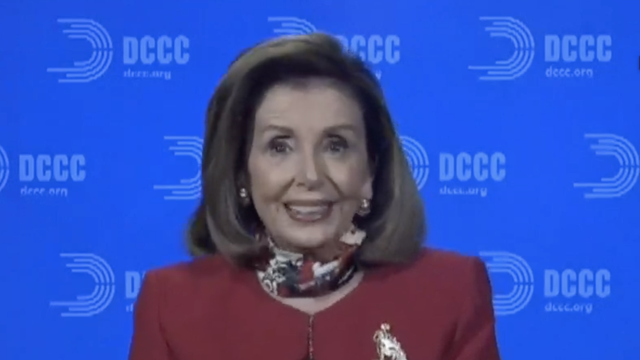 Speaker Pelosi holding an Election Day news conference.