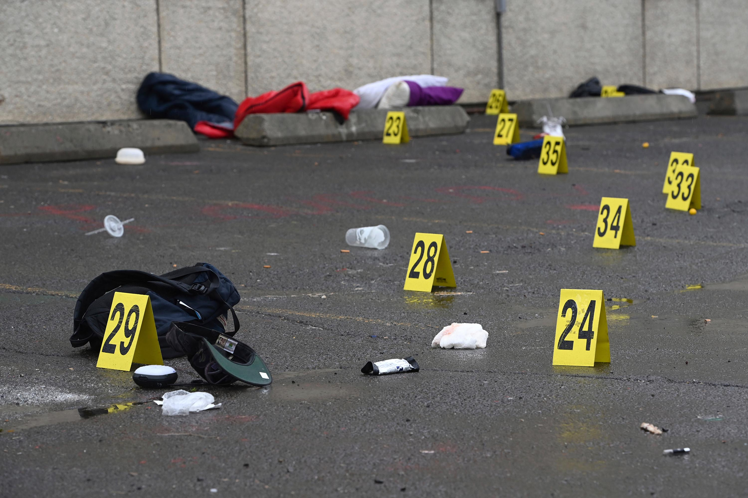 Police investigate a shooting in Anchorage, Alaska on Saturday.