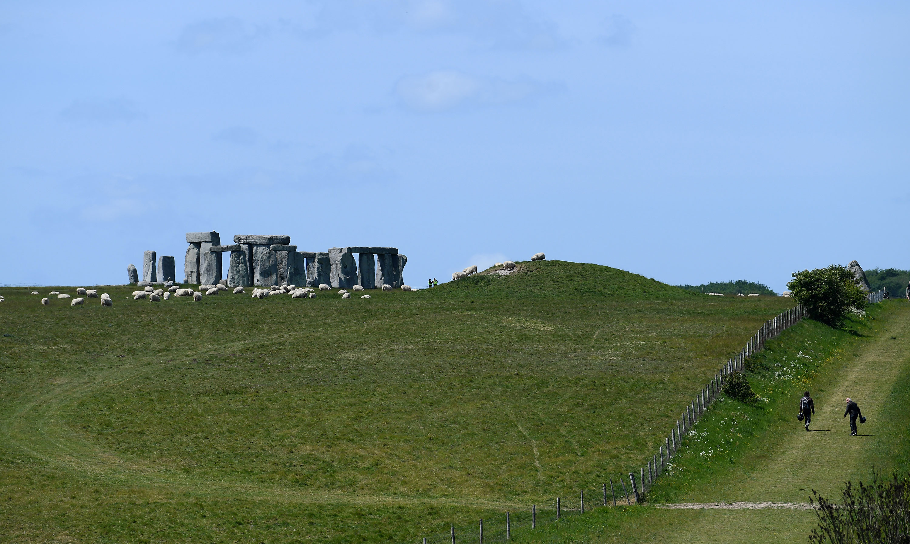 A general view from the A303 of Stonehenge on May 24.