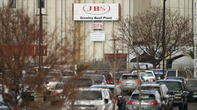 JBS Greeley Beef Plant in Greeley, Colorado, on Friday, April 10.