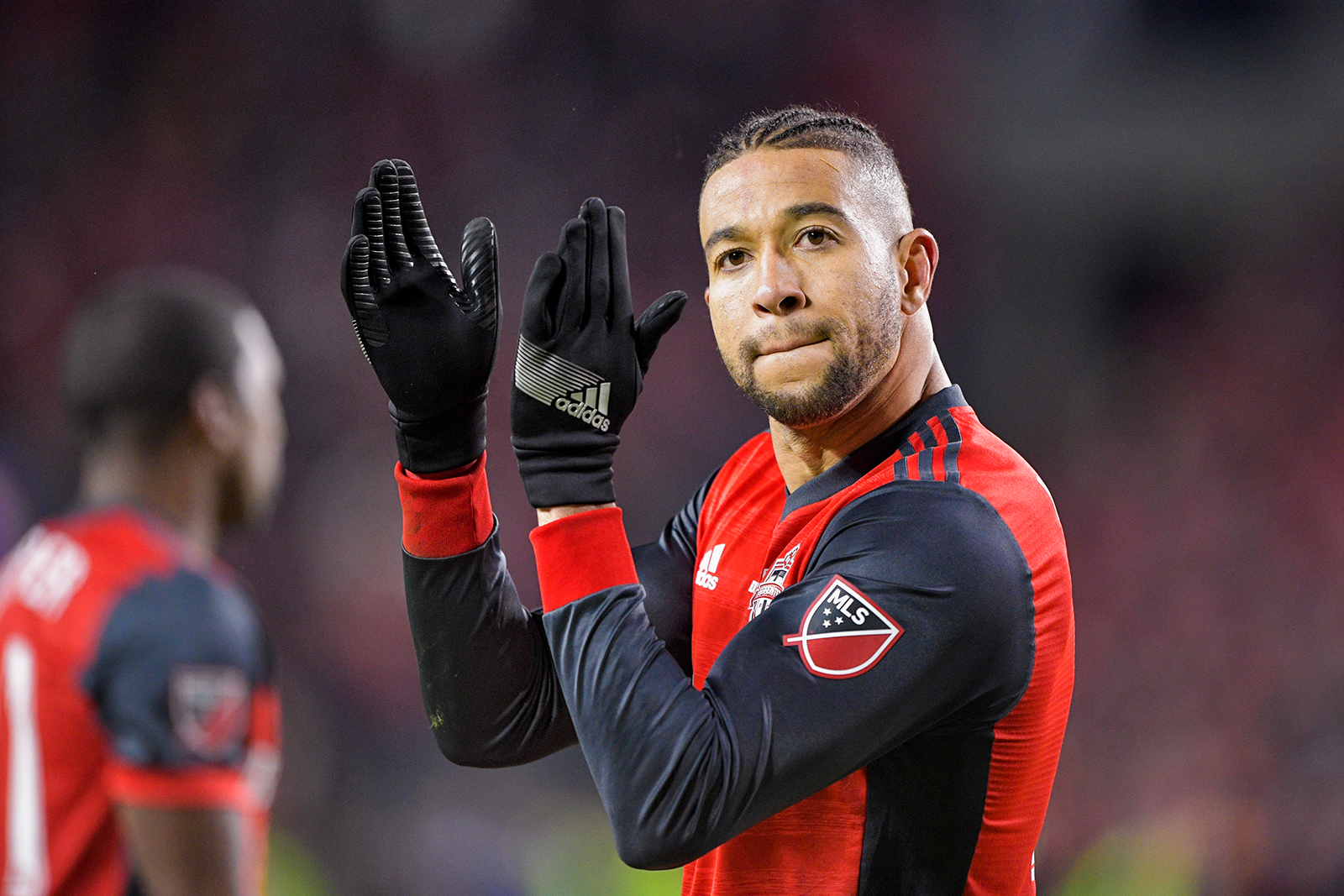 Toronto FC Defender Justin Morrow applauds during the 2017 MLS Cup Final.