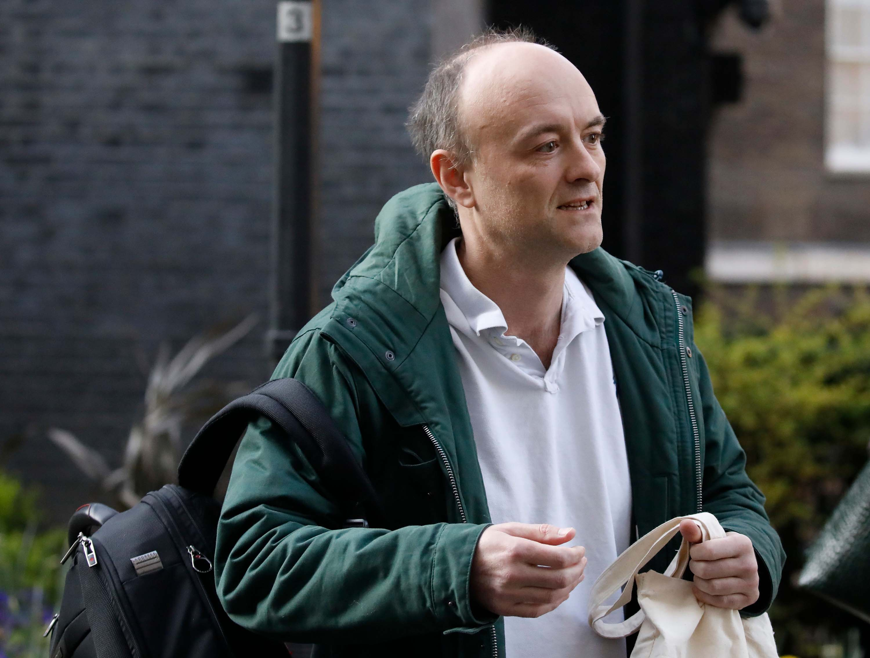 Dominic Cummings arrives at Downing Street on Friday, March 27.