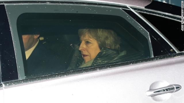 British Prime Minister Theresa May leaves Downing Street on March 12, 2019.