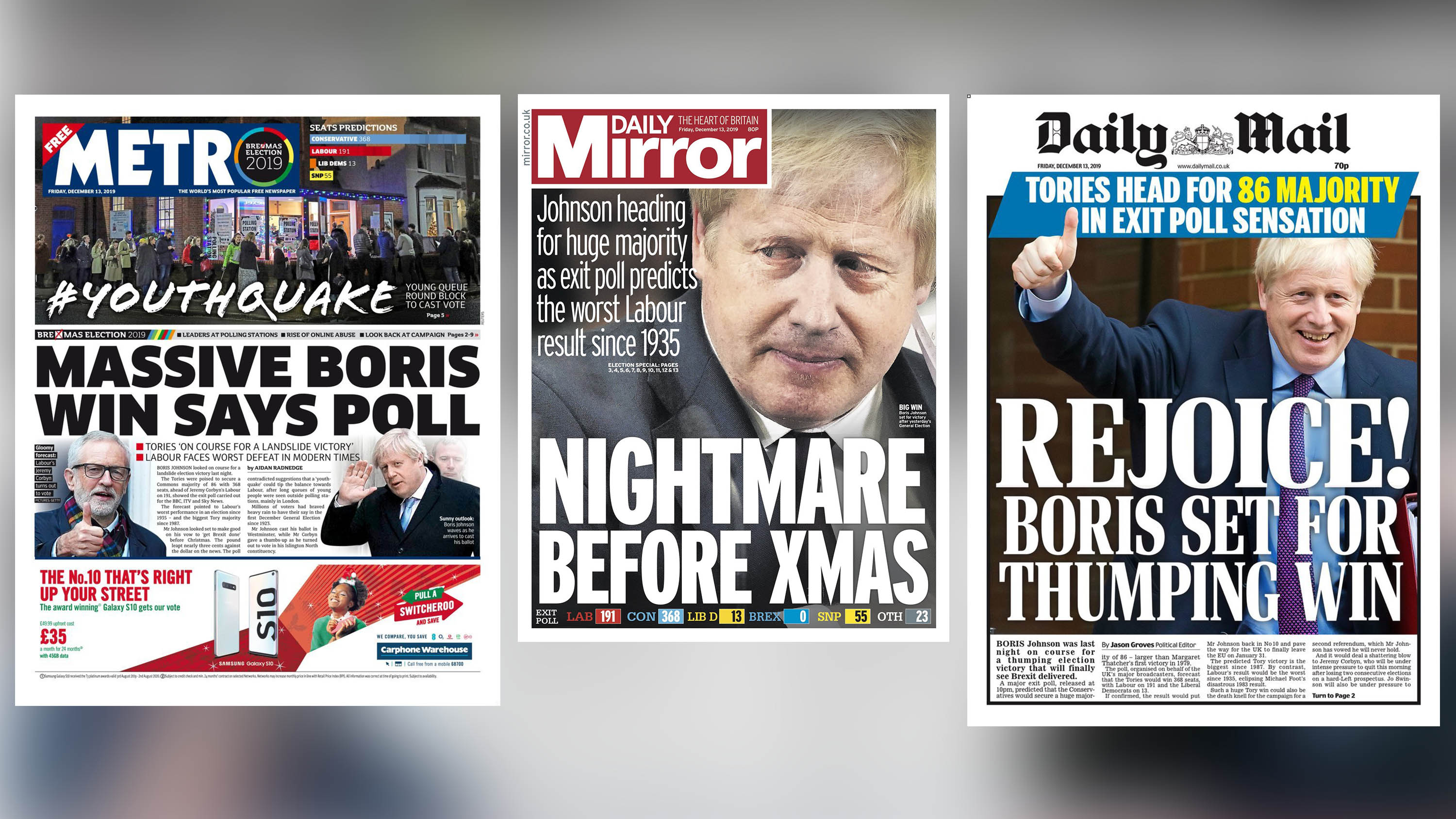 Metro/Daily Mirror/Daily Mail