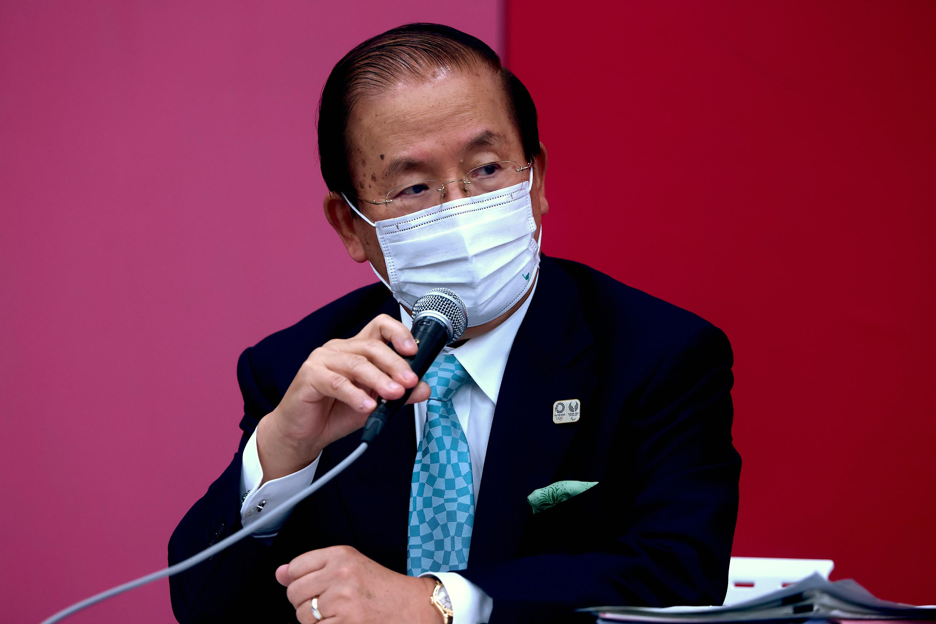Tokyo 2020 CEO Toshiro Muto attends a press conference on July 9, 2021 in Tokyo, Japan.