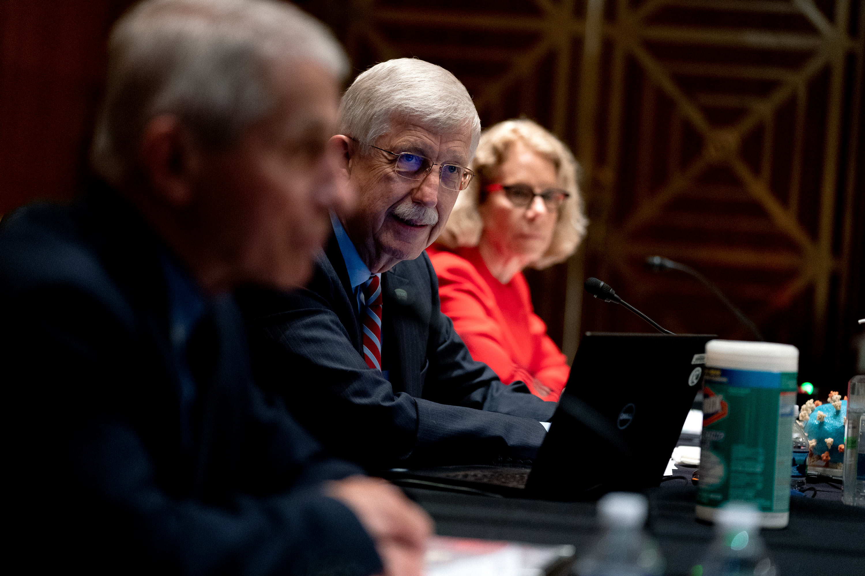 Dr. Francis Collins, director of the U.S. National Institutes of Health, speaks during a Senate Appropriations Subcommittee hearing on May 26 on Capitol Hill in Washington, D.C.