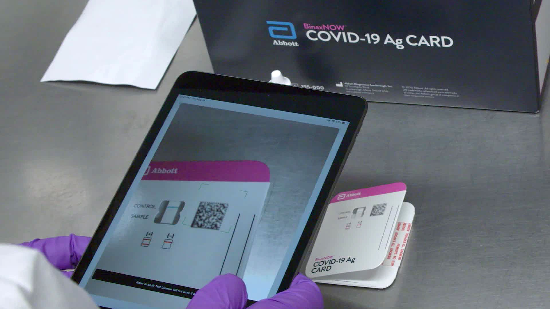 The BinaxNOW Covid-19 Ag Card can detect Covid-19 infection in 15 minutes.