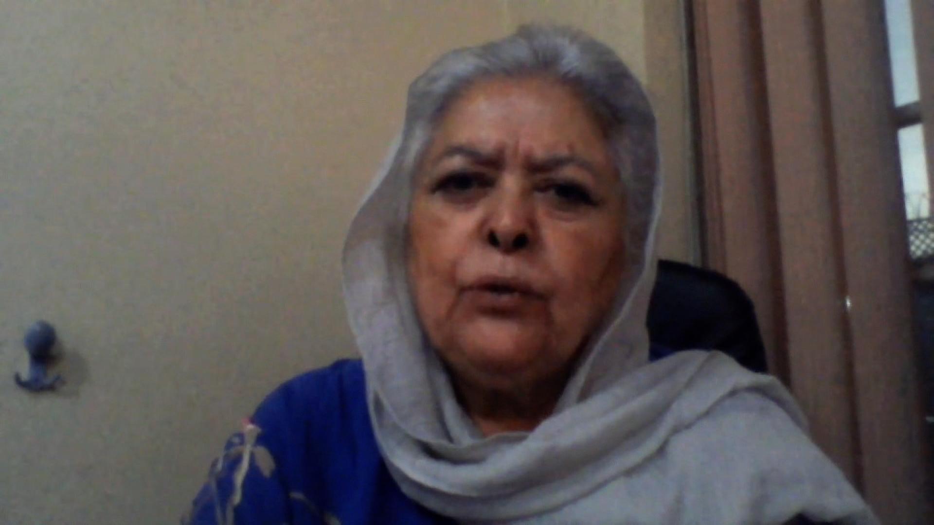 Mahbouba Seraj, women's rights activist, on August 15, 2021.