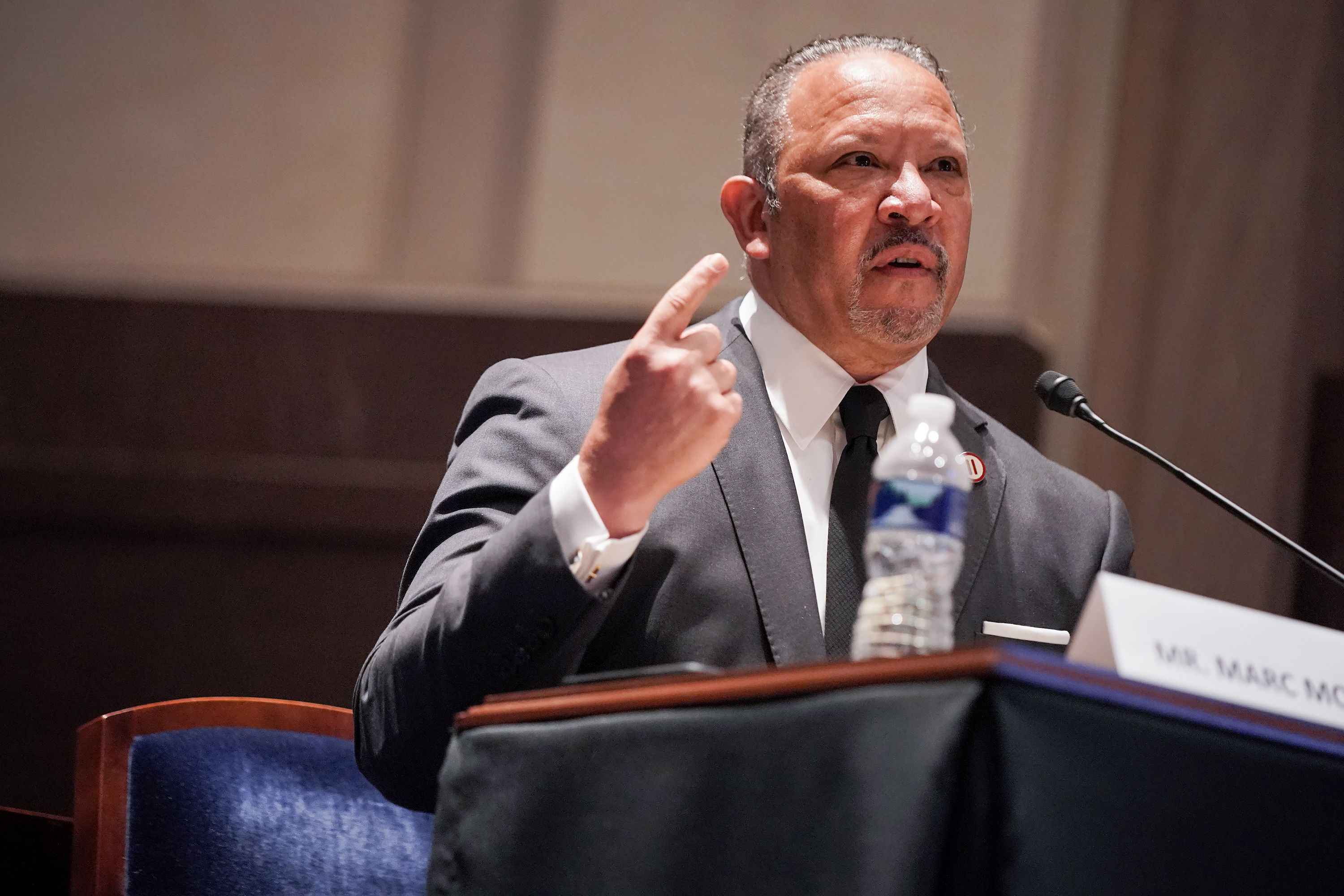 Marc Morial, President and CEO of the National Urban League, gives an opening statement during a hearing on Capitol Hill on June 10 in Washington of the House Judiciary Committee about policing practices and law enforcement accountability.
