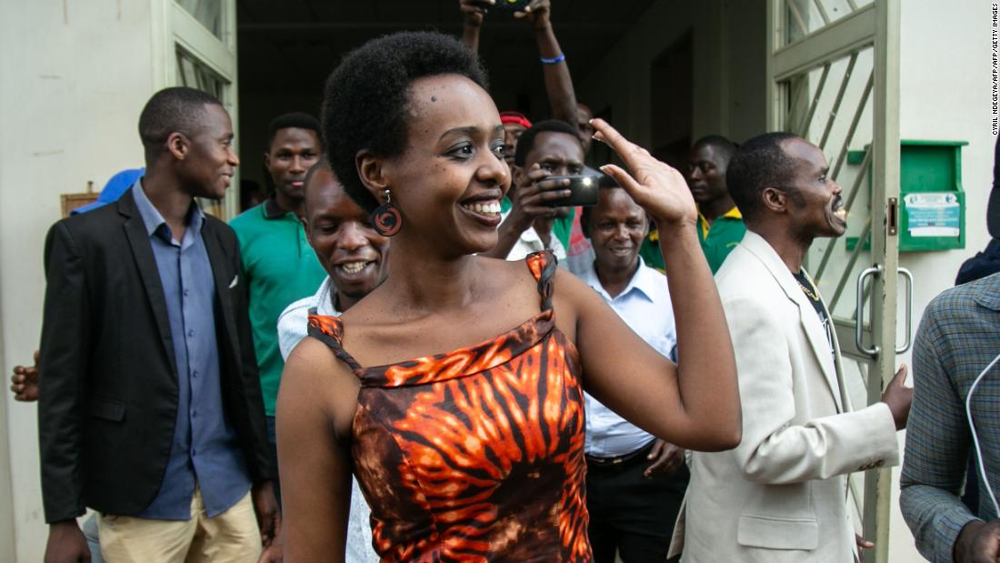 Diane Rwigara leaves Kigali's High Court after her acquittal on Dec. 6.