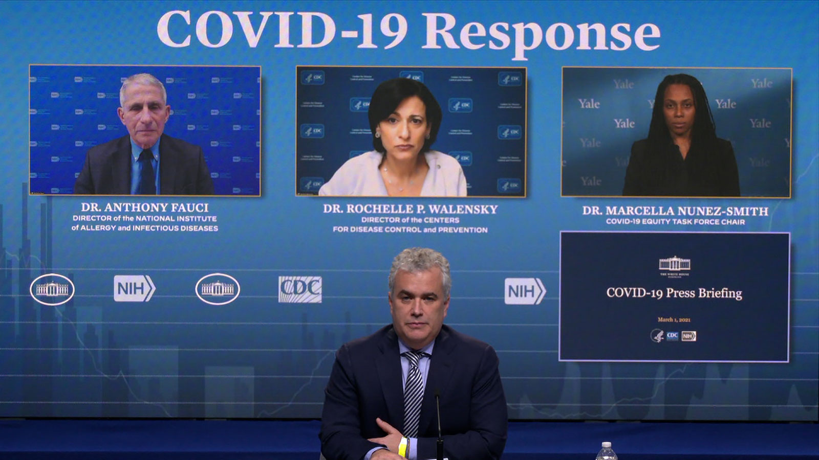 The White House holds a Covid-19 press briefing on Monday, March 1.