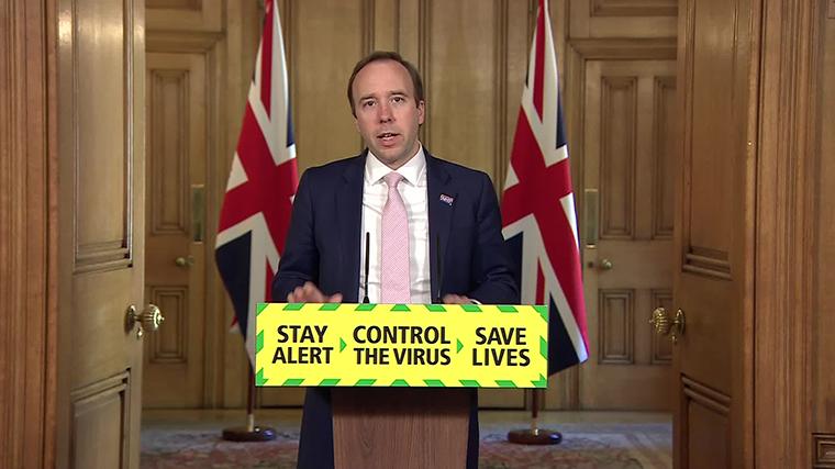 UK Health Minister Matt Hancock