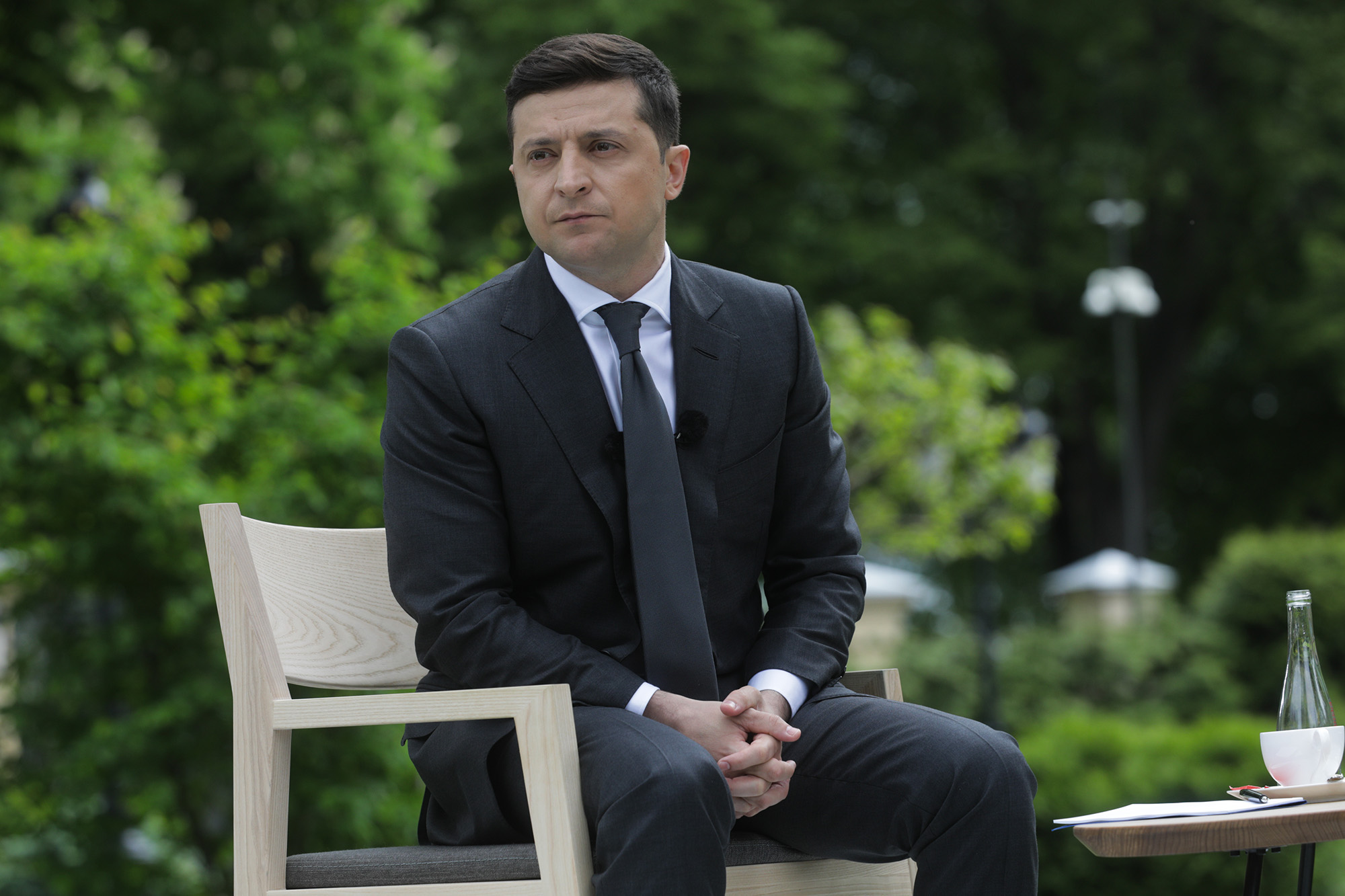 President of Ukraine Volodymyr Zelensky speaks during a press conference in Kyiv, Ukraine, on Wednesday, May 20.