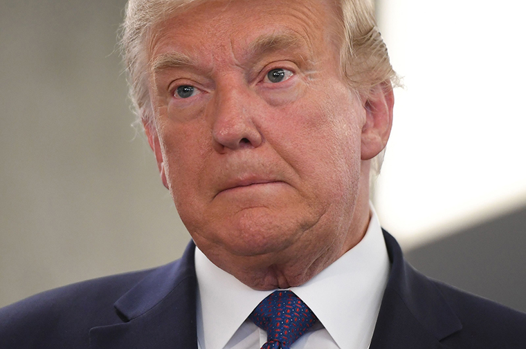 US President Donald Trump visited his campaign headquarters in Arlington, Virginia on November 3, 2020.