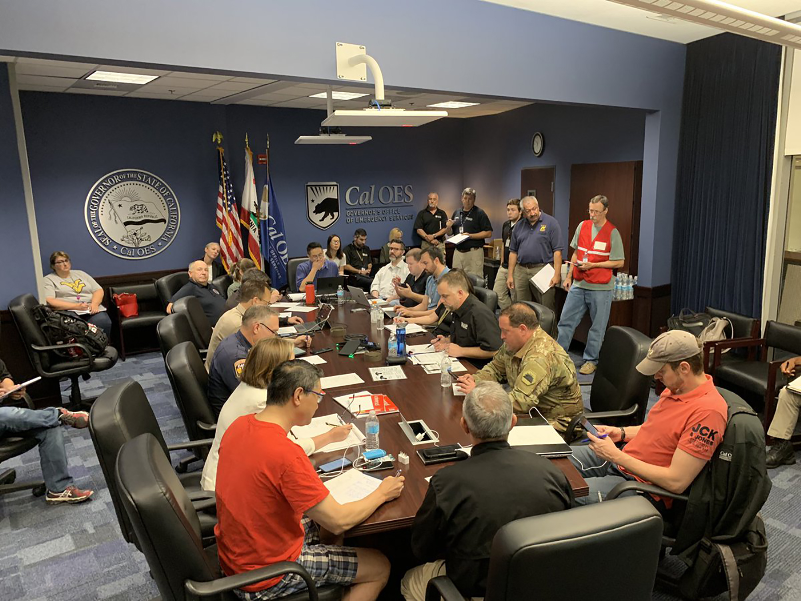 The leaders of the region's emergency services are coordinating aid and regional in the Ridgecrest area.