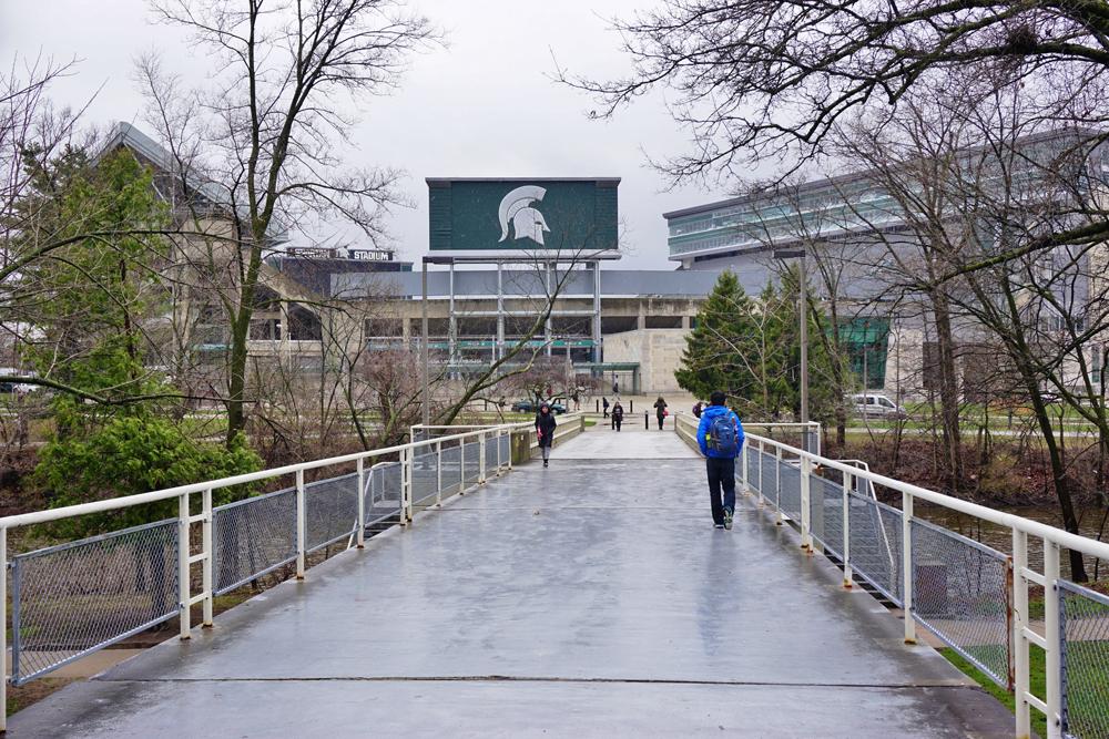 Michigan State University in East Lansing.
