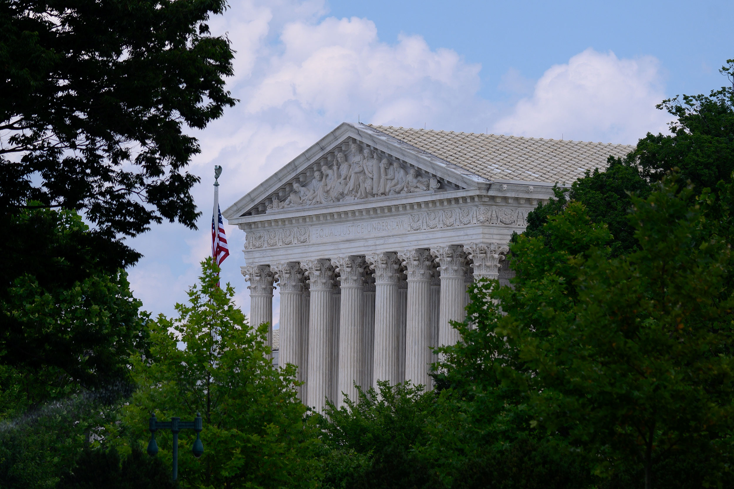 The exterior of the US Supreme Court in Washington, DC.