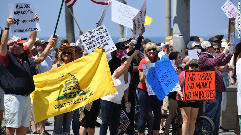 Up to 3,000 people attended the protests, according to Huntington Beach Police Chief Robert Handy.