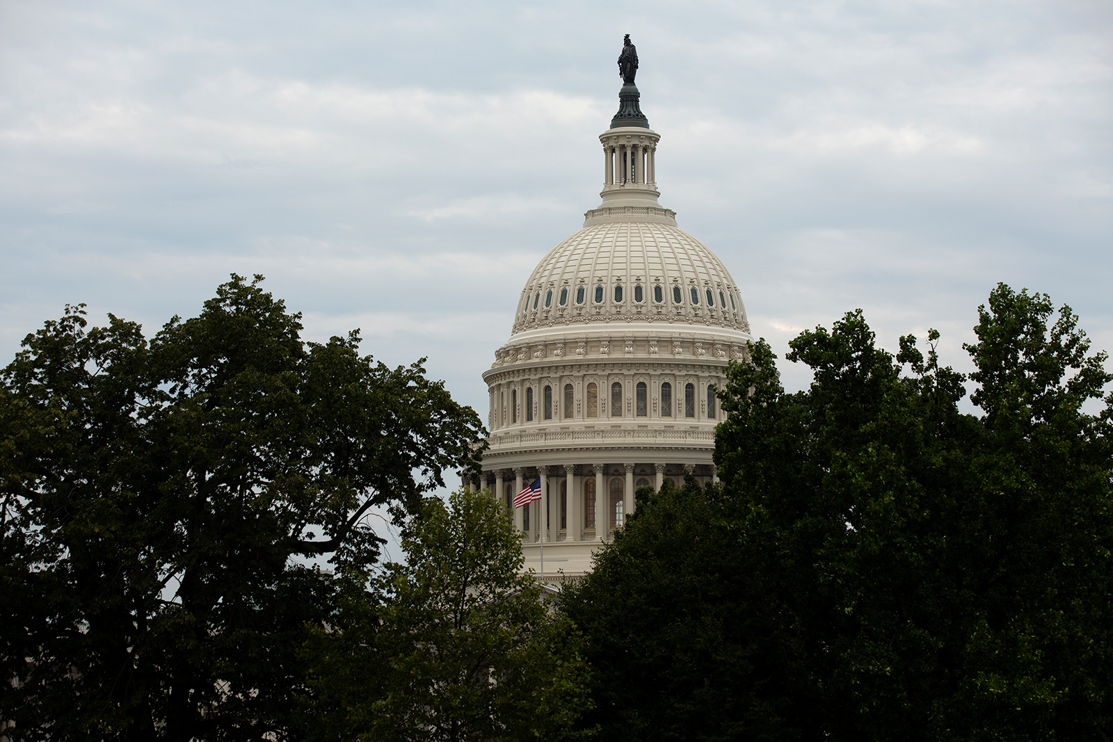 The United States Capitol is seen on August 6 in Washington.