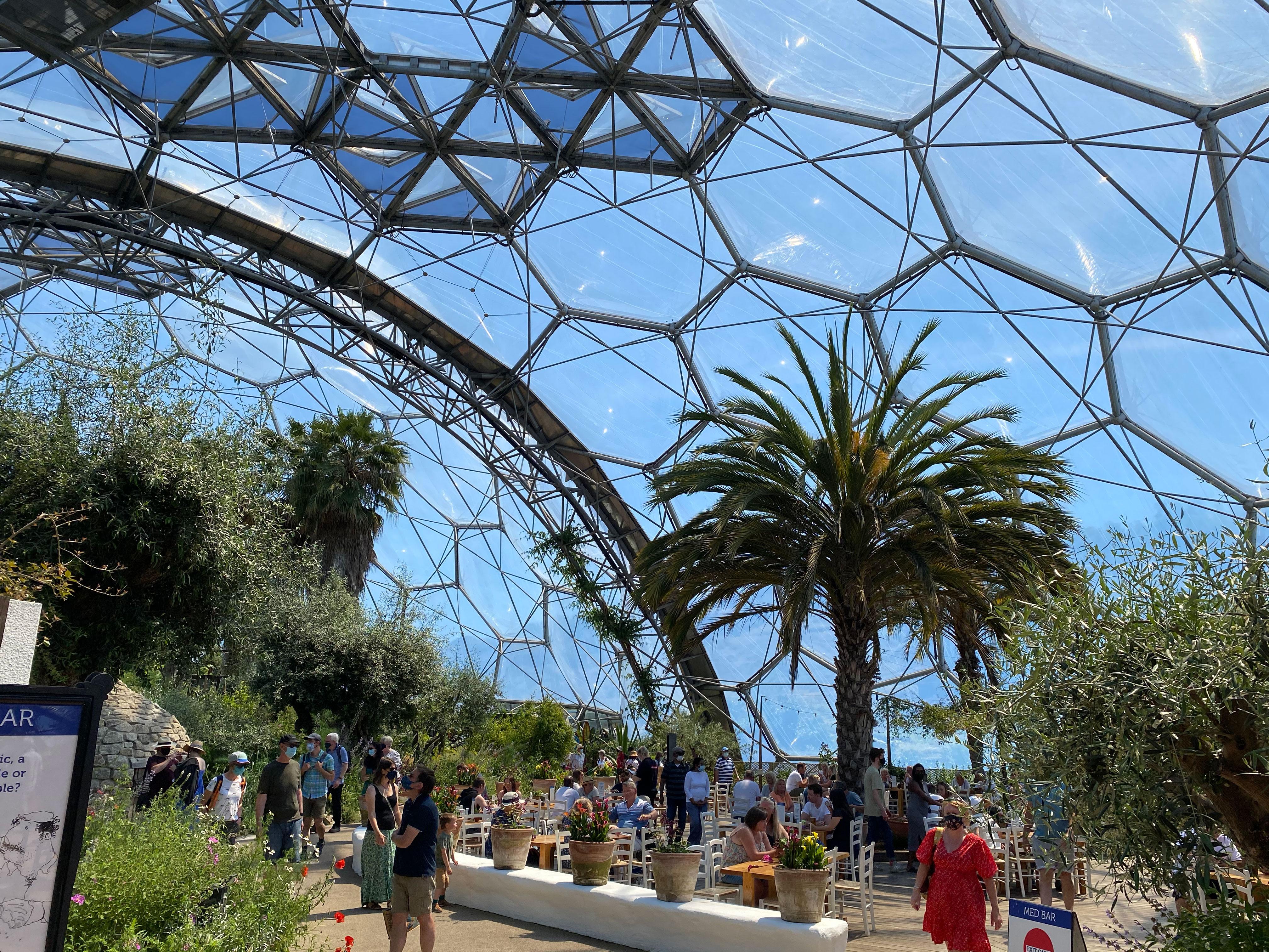 The Eden Project's Mediterranean biome on June 12.