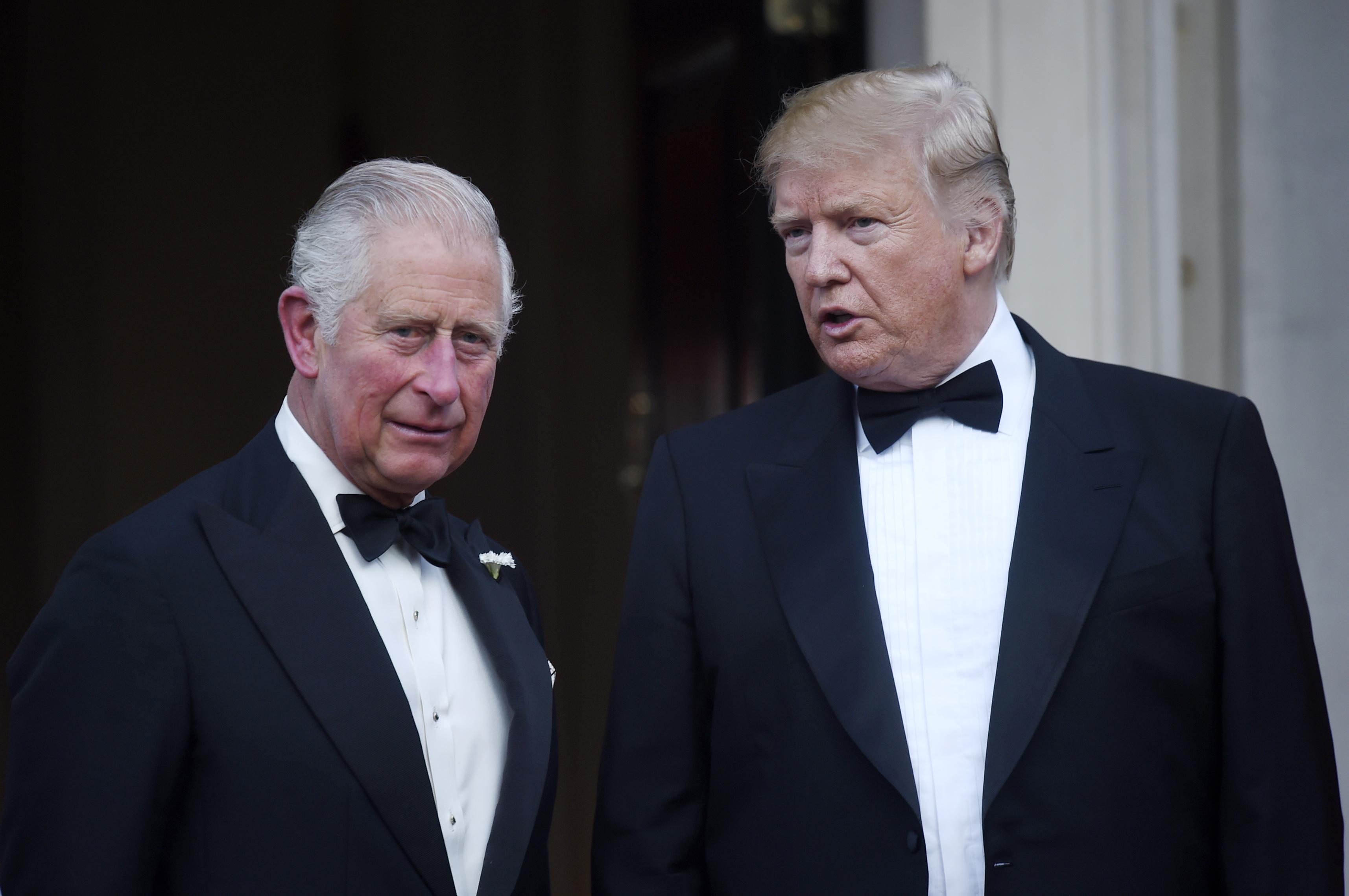مرکزی لندن میں ونڈف ہاؤس میں پرنس چارلس منگل کو شام کے صدر ٹرمپ سے ملاقات کرتے ہیں.