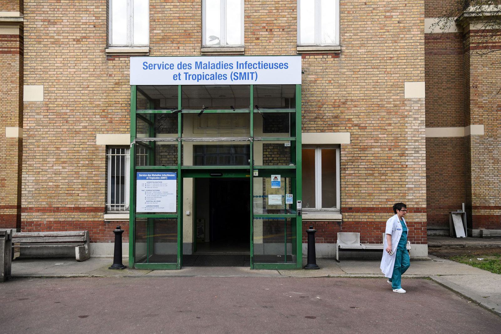 The Service des Maladies Infectieuses et Tropicales (Infectious and Tropical Diseases Unit) of the Bichat hospital in Paris, France, on January 25.