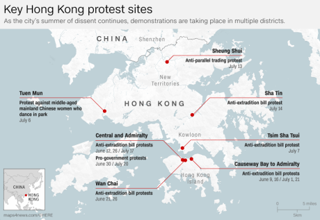 Hong Kong riot police face off with protesters: Live updates