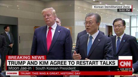 DMZ: Donald Trump steps into North Korea with Kim Jong Un