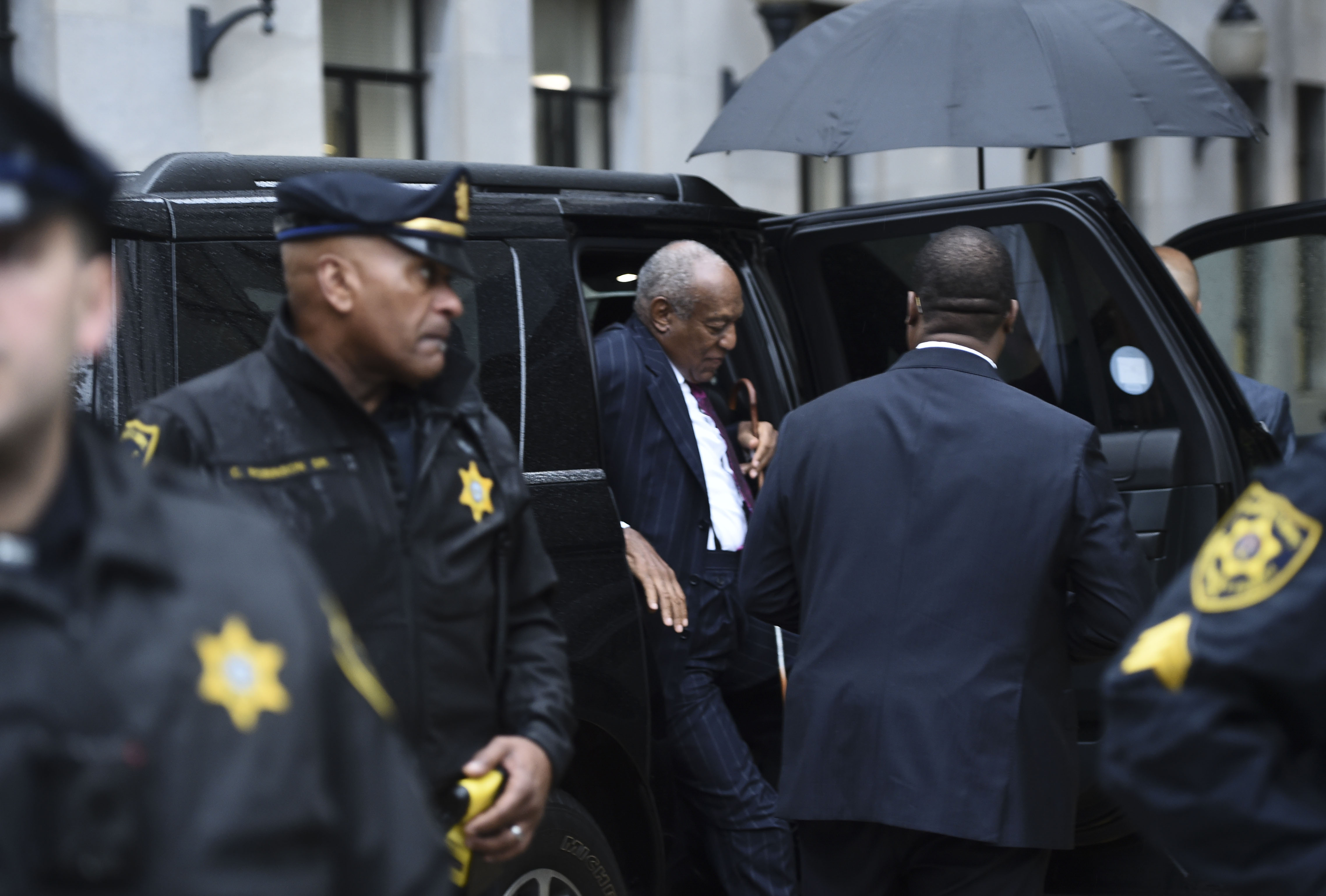 Bill Cosby arrives for a second day of a sentencing hearing at the Montgomery County Courthouse in Norristown, Pennsylvania.