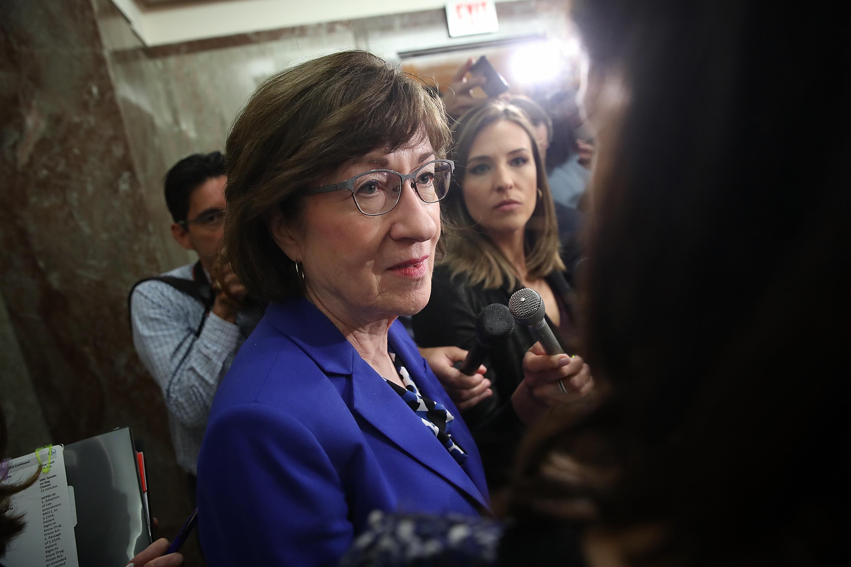 Sen. Susan Collins on Capitol Hill September 17, 2018.
