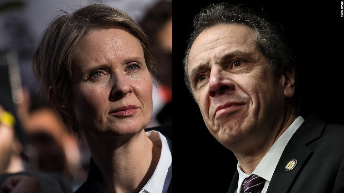 Live: New York Gov  Andrew Cuomo easily defeats Cynthia