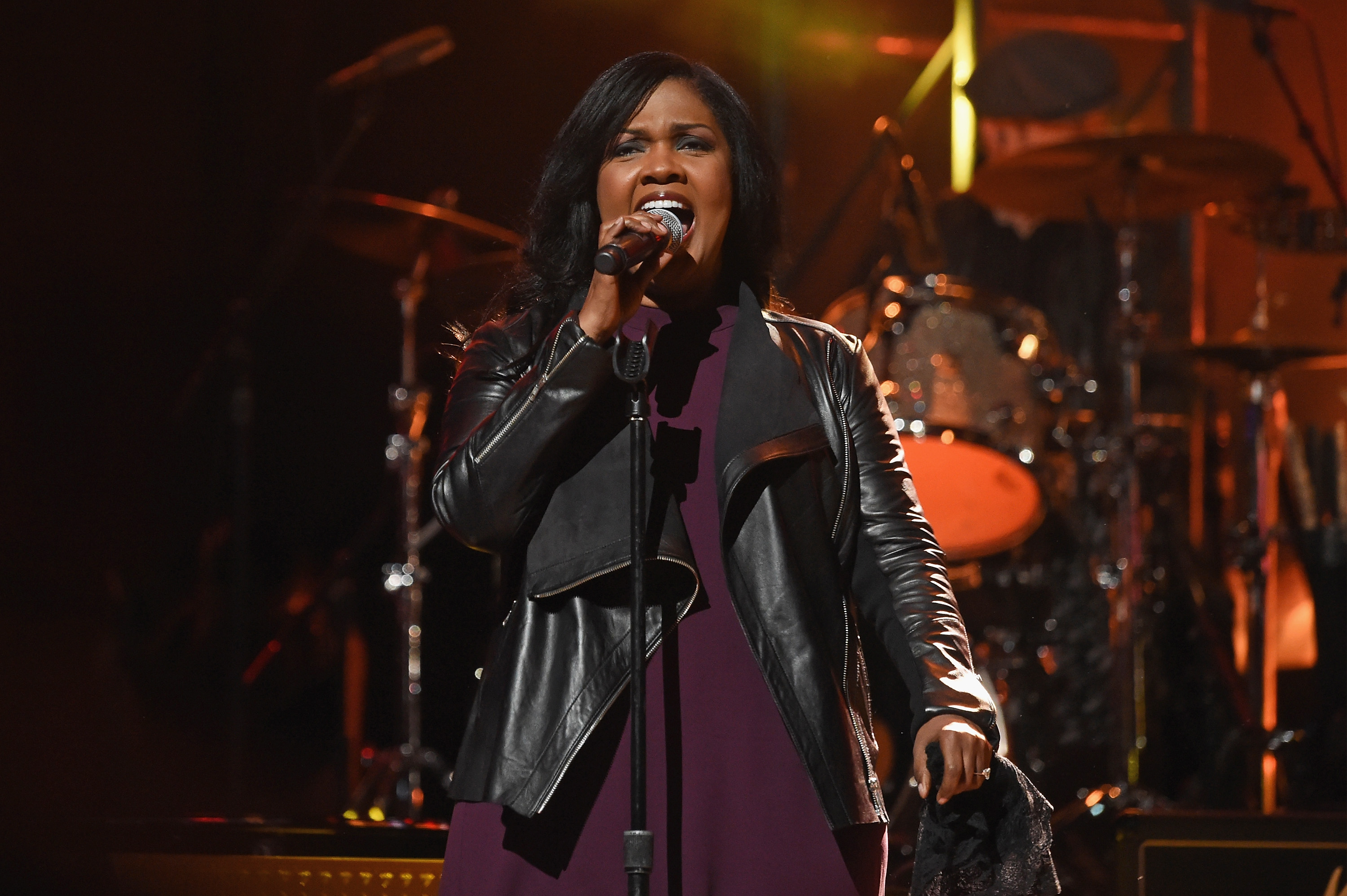 "In this file photo, CeCe Winans performs onstage during ""Love Rocks NYC! A Change is Gonna Come: Celebrating Songs of Peace, Love and Hope"" on March 9, 2017 in New York City."