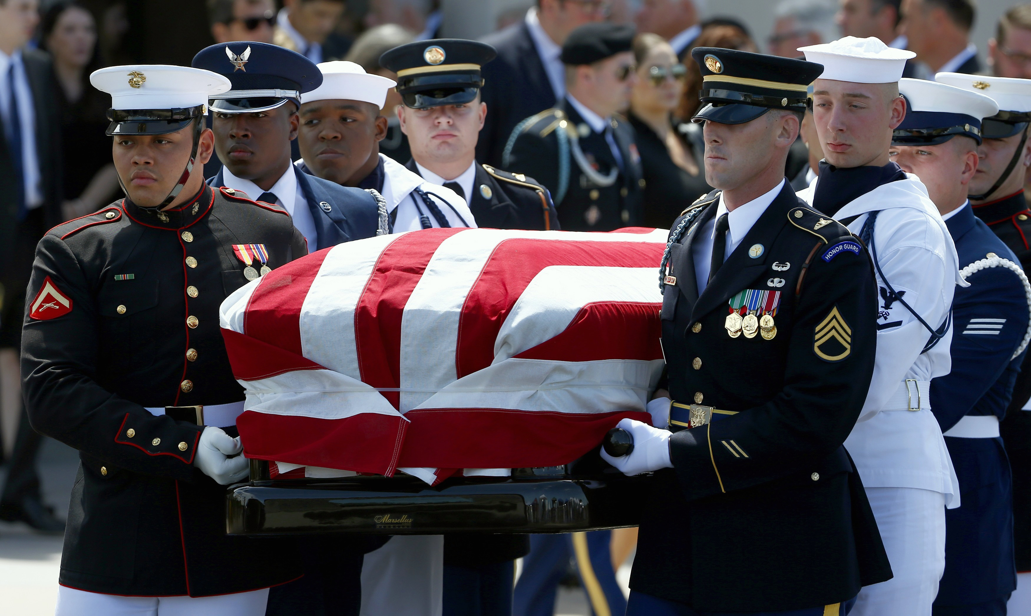 A Memorial Service For John Mccain Was Held Today In