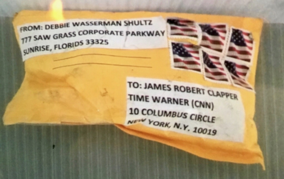 This photo is just one of the suspicious packages that has been sent.  The FBI says the packagesall are similar.