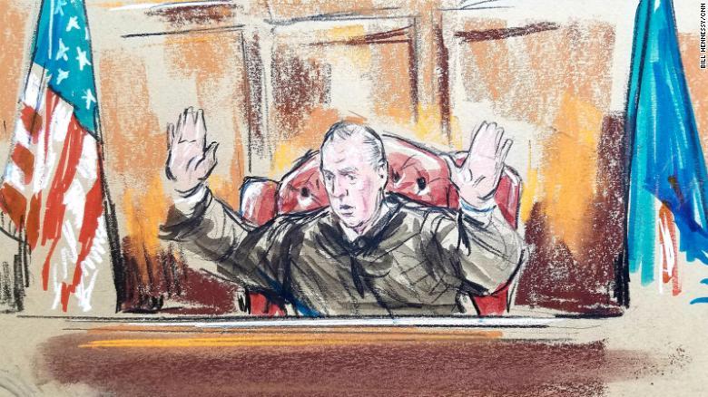 Judge T.S. Ellis presides over the Paul Manafort trial.