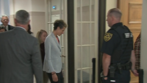 Andrea Constand arrives at court.