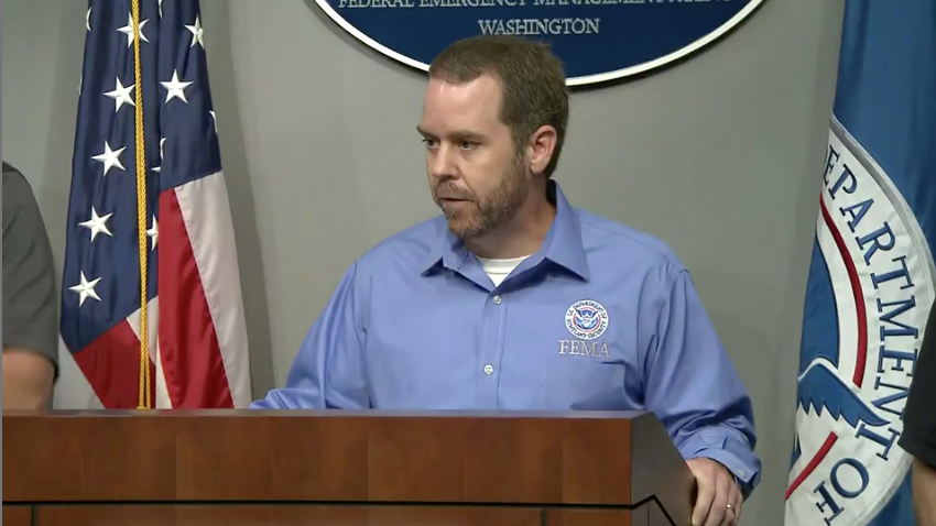 FEMA official Jeff Byard speaks at a Hurricane Florence briefing on Friday, Sept. 14, 2018, as rain and a storm surge continues to be a threat across the coastal Carolinas for the next day and a half.