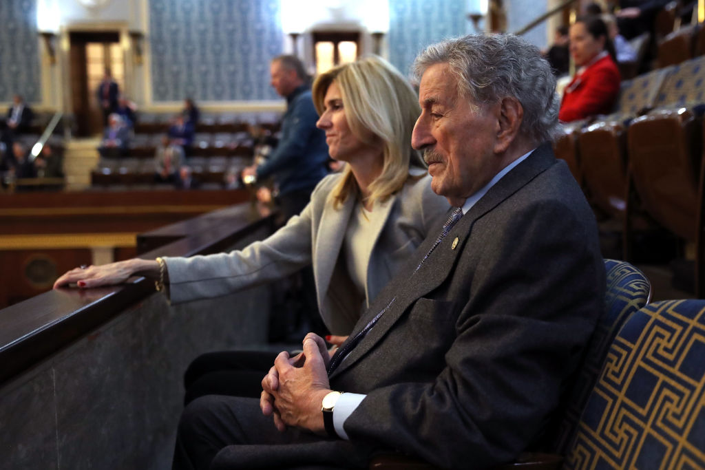 Singer Tony Bennett waits for the first session of the 116th Congress to start at the US Capitol Jan. 03, 2019 in Washington, DC.