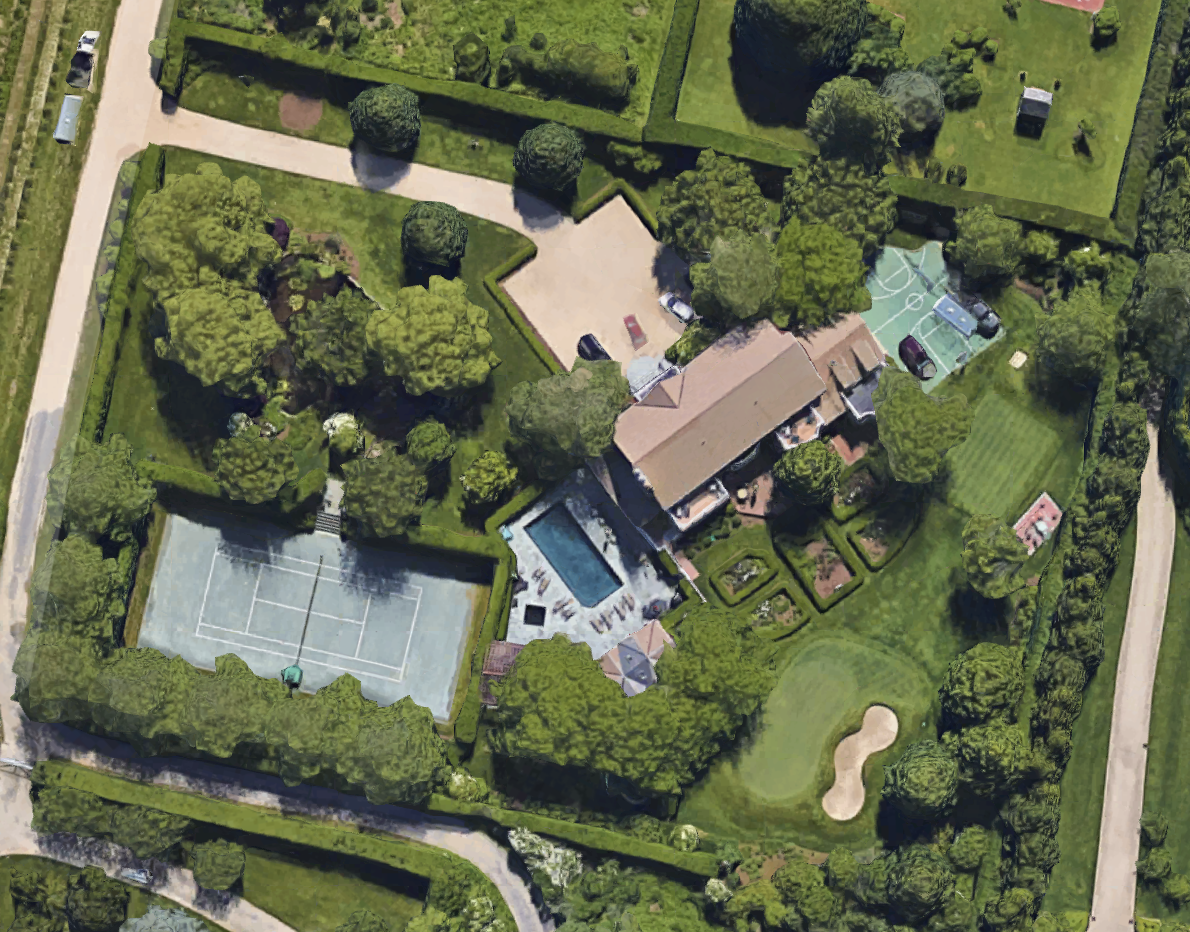 Paul Manafort's house in Bridgehampton, New York, as seen on Google Maps.